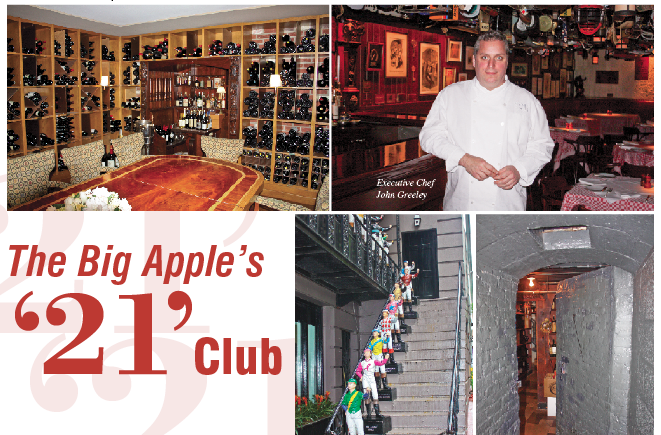 The Big Apple's '21' Club – Great Escape-East Coast