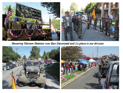 Parade Entry Honors Vietnam Veterans