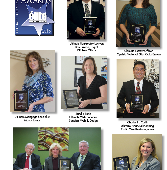 1st Annual  Ultimate Business Professionals Awards  The WINNERS Are …