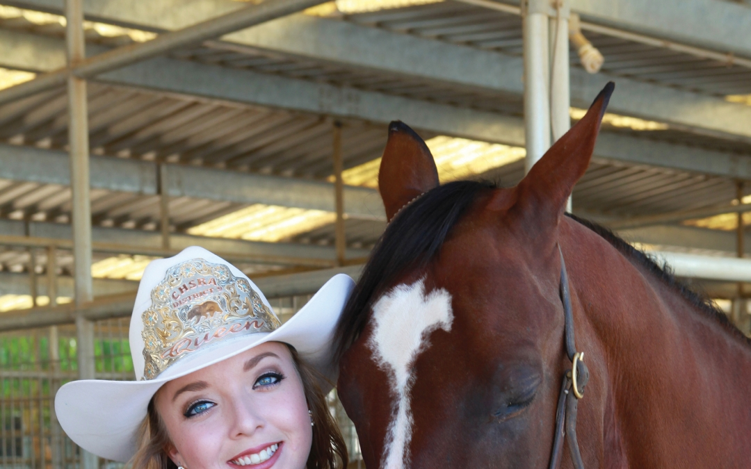 Rodeo Queen Wins with Roping