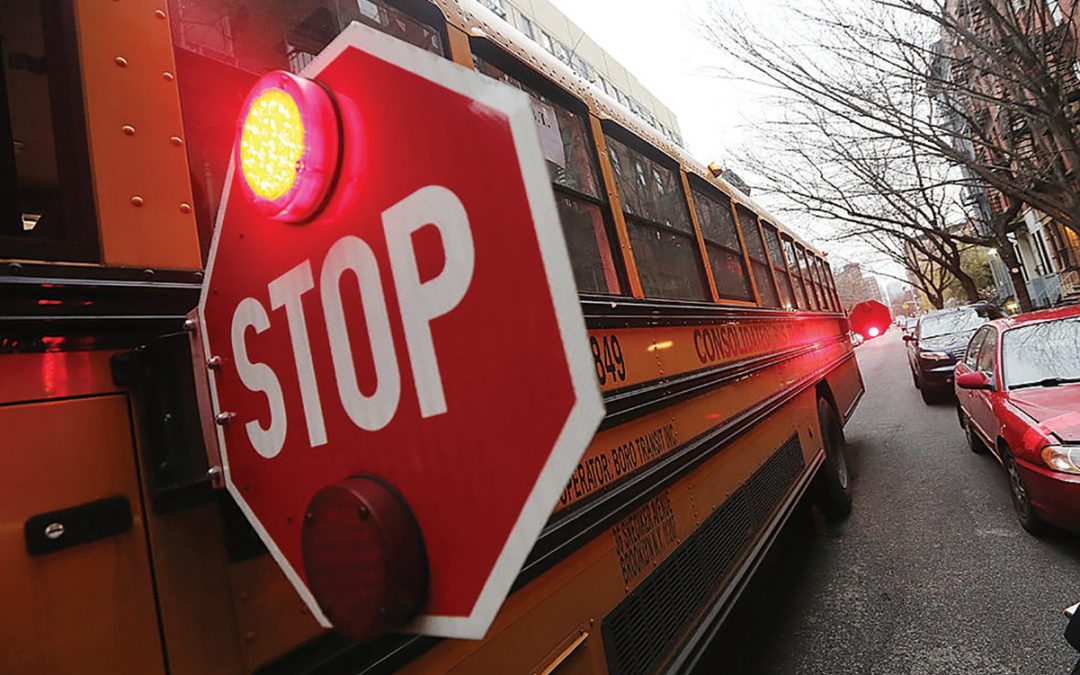Driver Beware – Use Caution Around Bus Stops, School Crossings