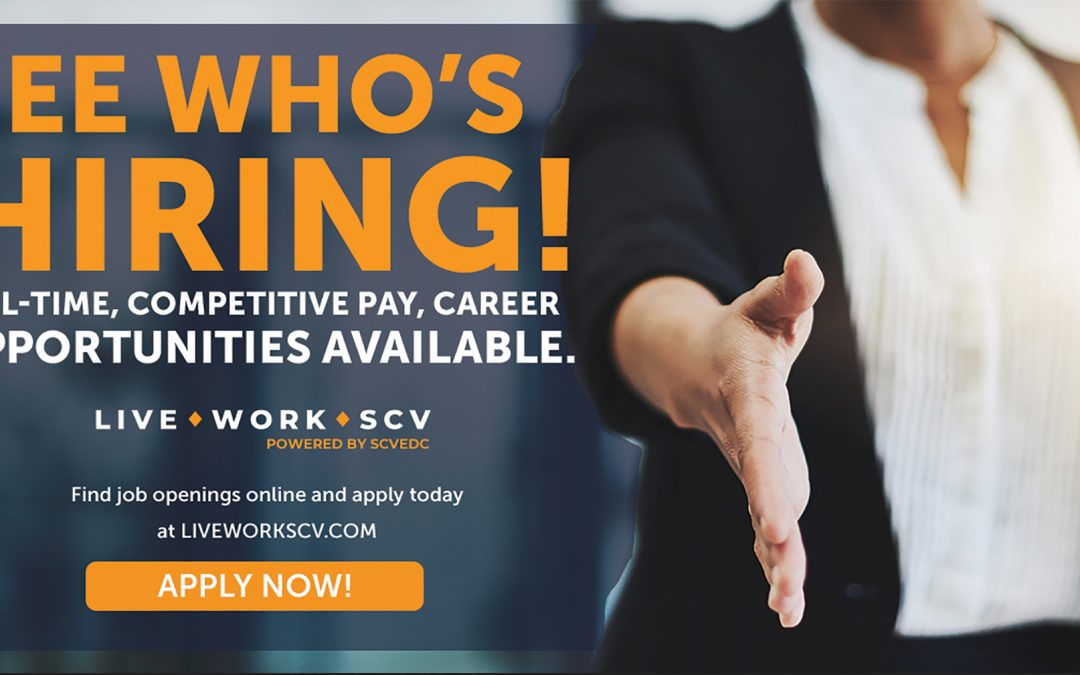 LiveWorkSCV.com The FREE Job Board for SCV Residents & Employers